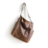 bucket shoulder bag leather pockets magnet lined maine