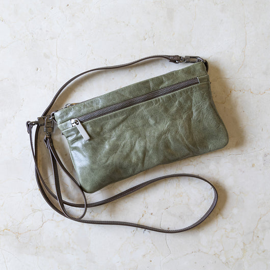 crossbody wallet with wristlet clip | select colors on sale