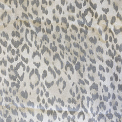 grey leopard | linen | swatch