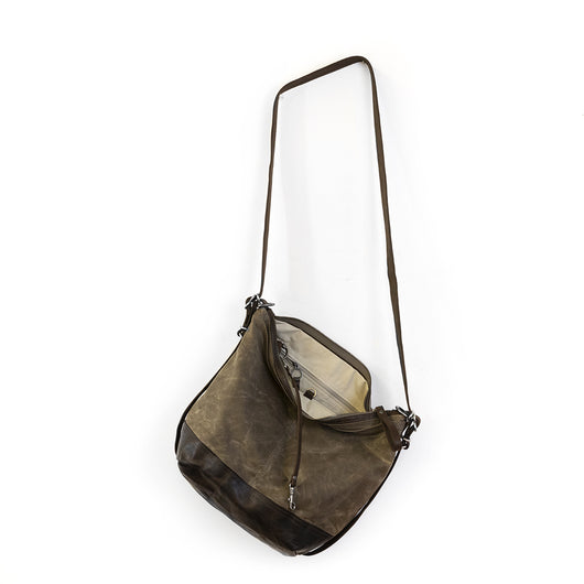 vintage hobo pack | open pocket | leather base
