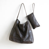 kirigami leather bag folded shoulder tote pockets magnet