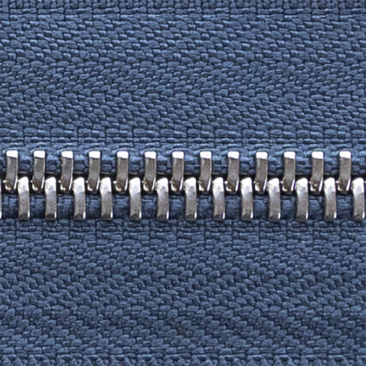 light navy | nickel | zipper swatch
