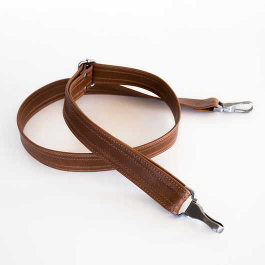 adjustable crossbody clip on strap removable leather saddle