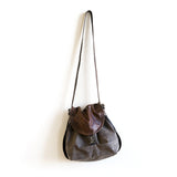 backpack convertible shoulder crossbody leather waxed canvas
