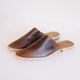 osborn leather mules in brown