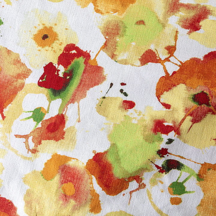 pansy & papaya linen and cotton | swatch
