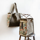 Rifle Paper Co. totes | dark oak | limited