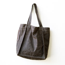 shopper | waxed cotton canvas
