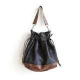 shoulder bag leather cinch clip on maine
