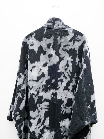 69 Cocoon Coat, Denim Cow Black