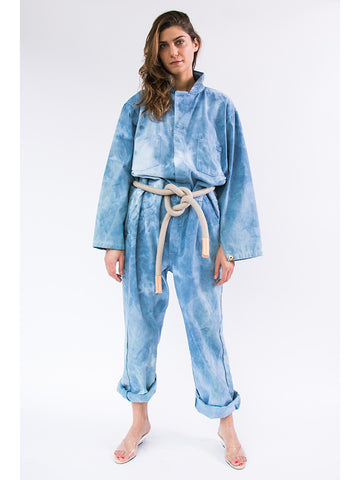 Audrey Louise Reynolds Organic Cotton Jumpsuit, Indigo