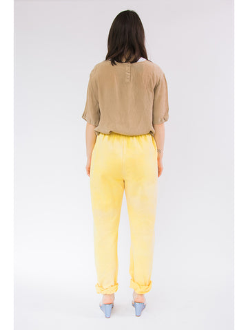 Audrey Louise Reynolds Organic Cotton Sweatpants, Yellow