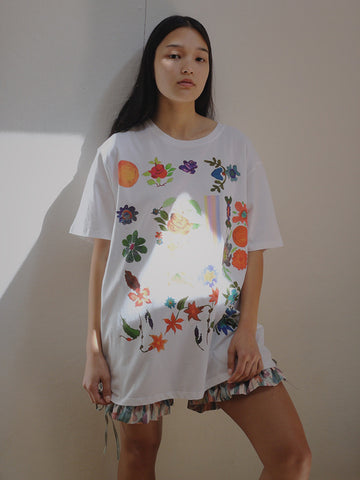 Anntian Big T-Shirt, Floral Screenprint