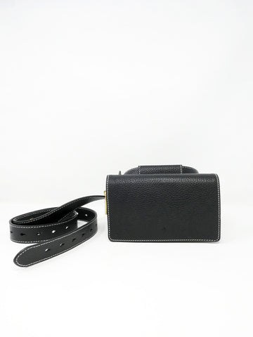 Ashya Cedar Mini Belt Bag, Onyx