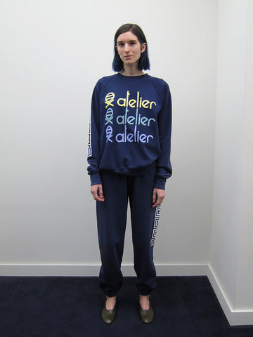 Atelier E.B. Jill Sweatpants, Navy