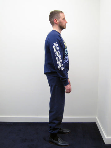 Atelier E.B. Trio Sweatshirt, Navy - Stand Up Comedy