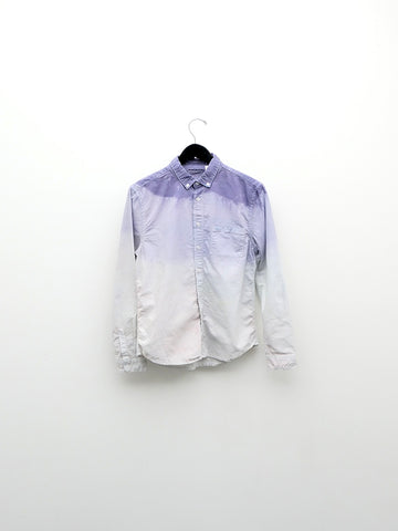 Audrey Louise Reynolds Organic Cotton Oxford Button Down Shirt, Purple Fade