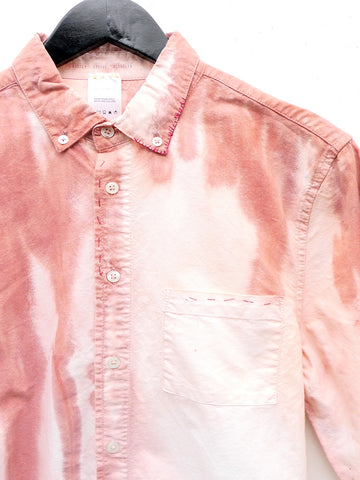 Audrey Louise Reynolds Organic Cotton Oxford Button Down Shirt, Red Fade