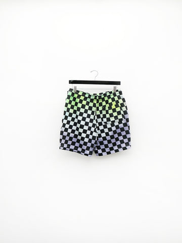 Audrey Louise Reynolds Organic Cotton Shorts, Checkerboard Fade