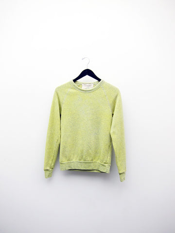 Audrey Louise Reynolds Organic Eco-Fleece Sweatshirt, Heathered Yellow/Grey