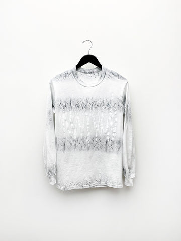 Audrey Louise Reynolds Long Sleeve Shirt, White/Charcoal Recycle Tie Dye