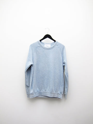 Audrey Louise Reynolds Organic Eco-Fleece Sweatshirt, Heathered Indigo