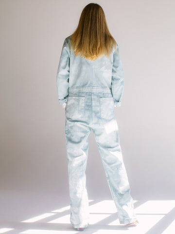 Audrey Louise Reynolds Organic Cotton Jumpsuit, In The Woods Now Green - Stand Up Comedy
