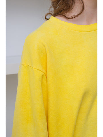 Audrey Louise Reynolds Organic Cotton Sweatshirt, Yellow - Stand Up Comedy
