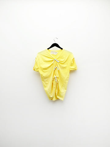 Audrey Louise Reynolds T-Shirt w/Ties, Yellow
