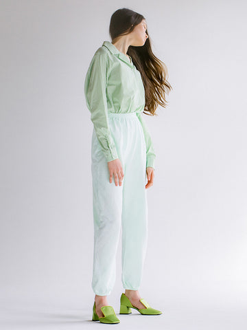 Audrey Louise Reynolds Organic Cotton Sweatpants, Neon Green Pastel - Stand Up Comedy