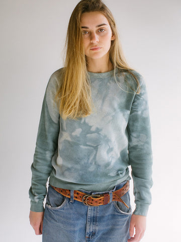 Audrey Louise Reynolds Organic Eco-Fleece Sweatshirt, In The Woods Now Green - Stand Up Comedy