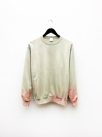 Audrey Louise Reynolds Organic Cotton Sweatshirt, Stinging Nettle/Flowers