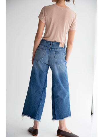 B Sides Georgia Hi Culotte Crop, Rose Tint Vintage Wash - Stand Up Comedy