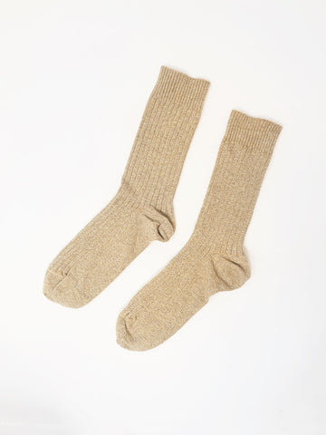 Baserange Rib Ankle Sock, Raw Natural