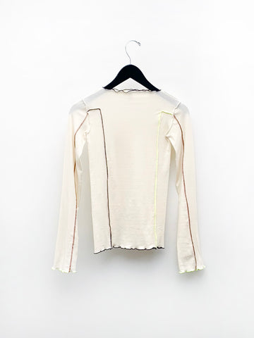 Baserange Omato Long Sleeve Top, Off White