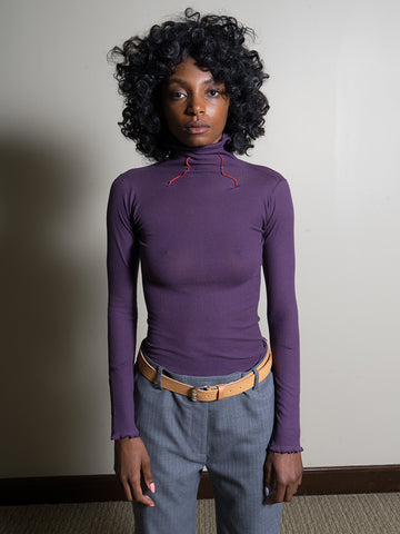 Baserange Oba Turtleneck, Purple