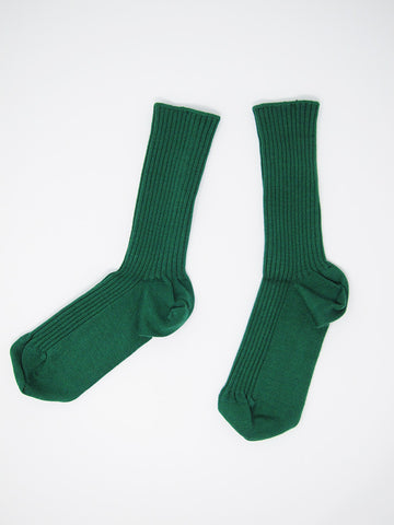 Baserange Rib Ankle Sock, Green