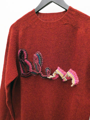Bless Logoknit Sweater, Dirty Red