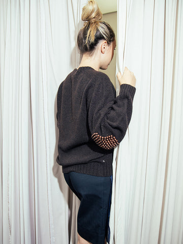 Bless Pearlpad Sweater, Truffle Brown