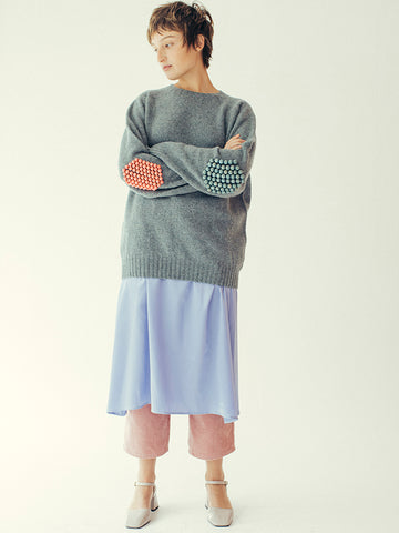 Bless Pearlpad Sweater, Graphite Green/Blue/Pink