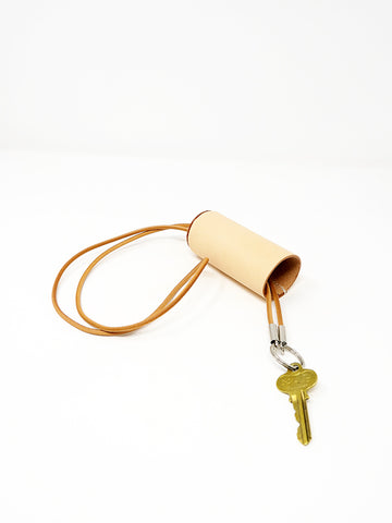 Building Block Cylinder Key Lanyard, Natural