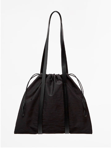 Building Block Drawstring Tote, Black