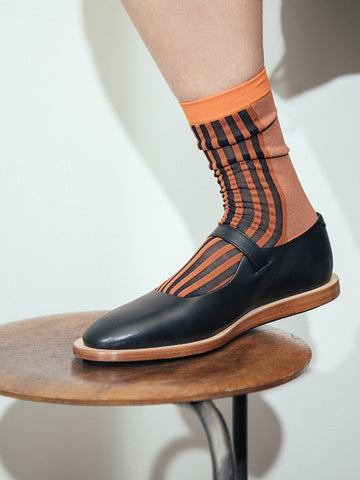 Eckhaus Latta Mid Sock, Brick Adobe