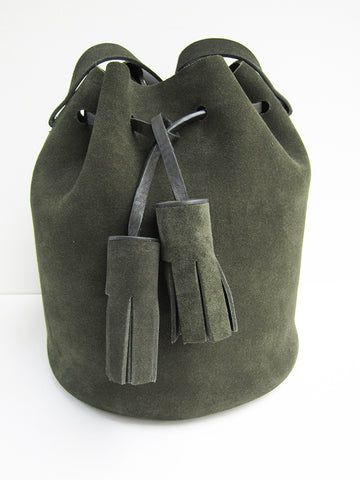 Building Block Mini Bucket Bag, Moss - Stand Up Comedy