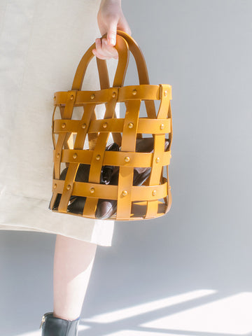 Building Block Woven Basket, Chestnut - Stand Up Comedy