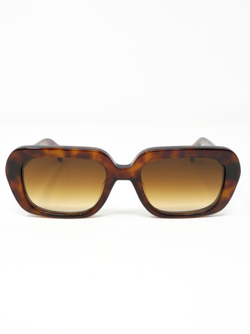 Chimi Rectangle Maple Sunglasses