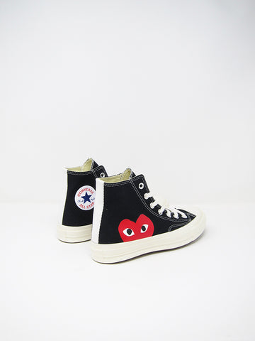 Comme des Garçons PLAY Converse, Black Single Heart - Stand Up Comedy