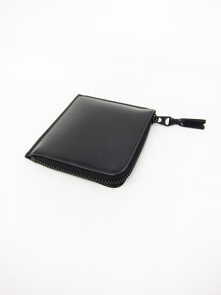 503a3334677789 Comme des Garçons Very Black Leather Line, Small Zip Wallet - Stand Up  Comedy