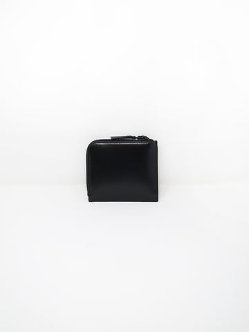 Comme des Garçons Very Black Leather Line, Small Zip Wallet - Stand Up Comedy