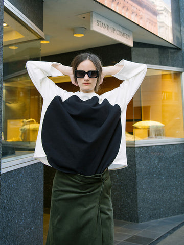 Correll Correll Olga Sweatshirt, Off White/Black